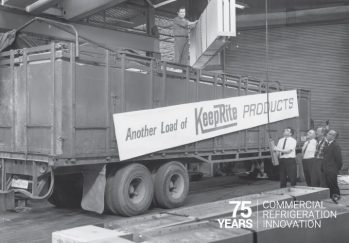KeepRite Refrigeration Truck Black and White Photo