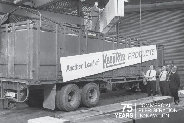 KeepRite Refrigeration Truck Black and White Photo