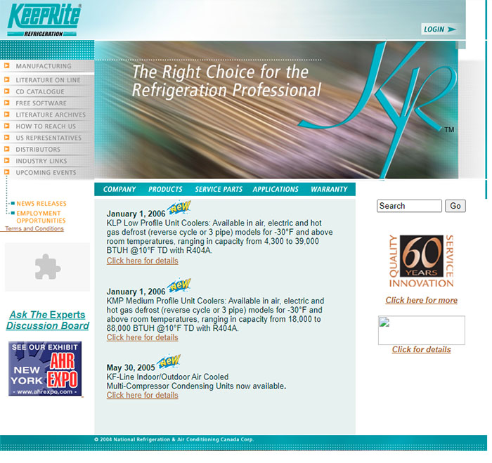 KeepRite Refrigeration First Website